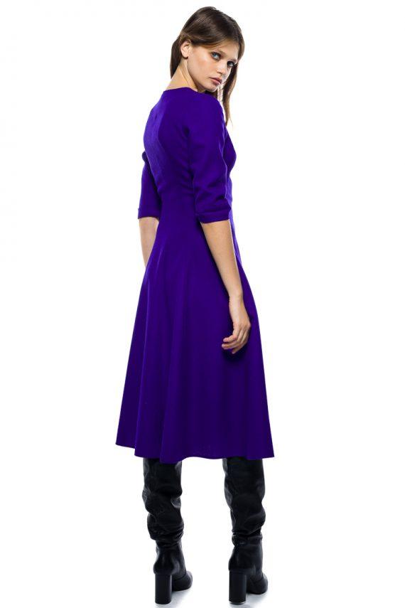 Flattering Wool Dress - back