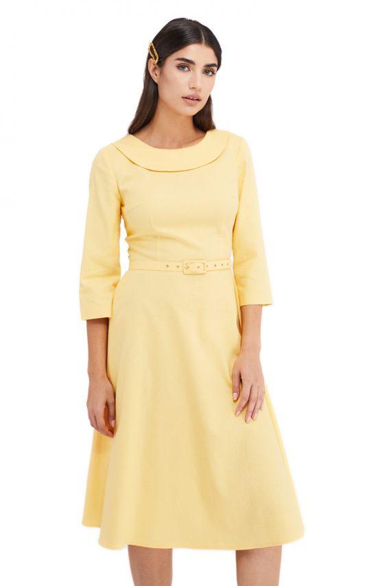 Francoise Cotton Midi Dress