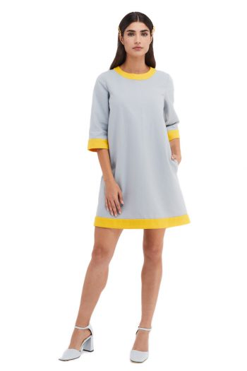 Gabrielle Two Tone Cotton Mini Dress