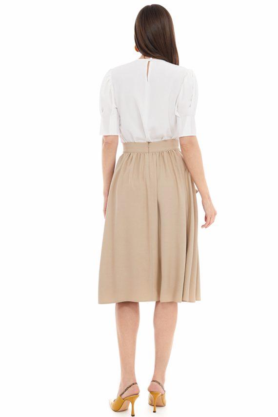 Gathered Viscose Skirt