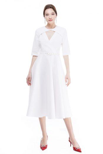 Gene Wrap-Effect Midi Dress