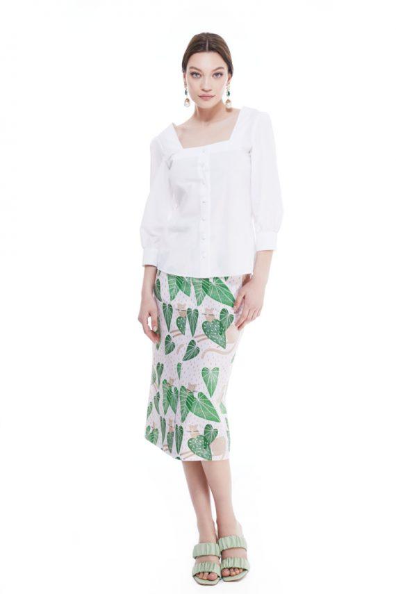 Greer Cotton Poplin Shirt