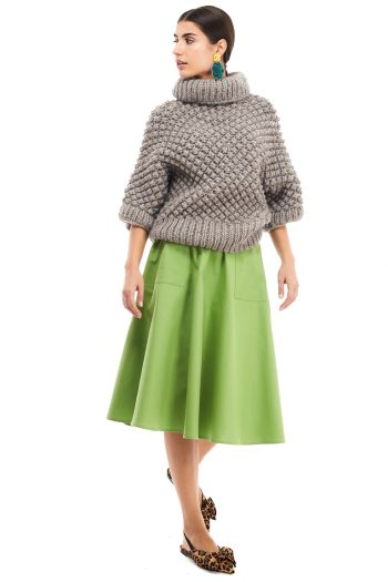 Hand Knitted Wool Blend Sweater