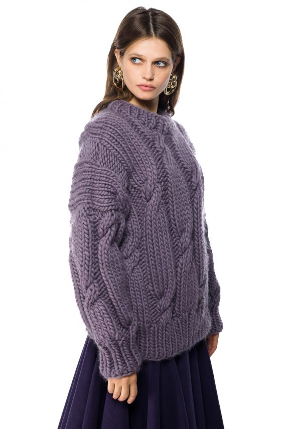 Hand Knitted Wool Sweater - side