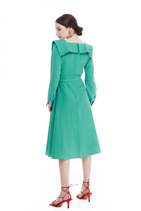 Hedy Sailor Collar Midi Dress