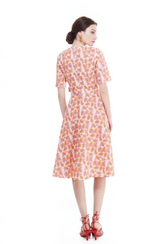 Jane Wrap-Effect Cotton Midi Dress