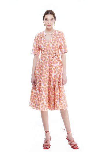 Jane Wrap-Effect Cotton Midi Dress
