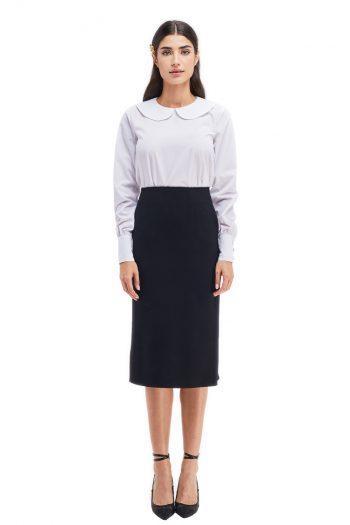 Josephine Wool Midi Skirt
