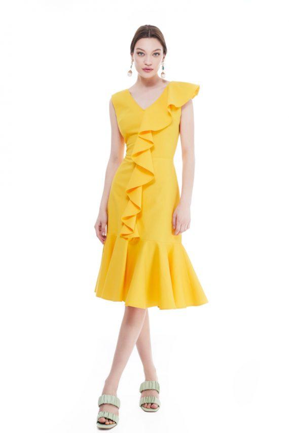 Judy Ruffled Cotton Dress