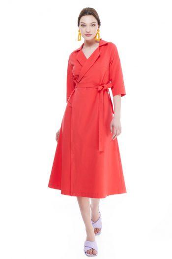 Khatarine Cotton Wrap Dress
