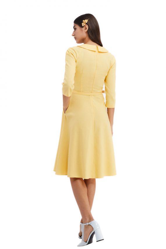 Leandre Belted Cotton Midi Dress