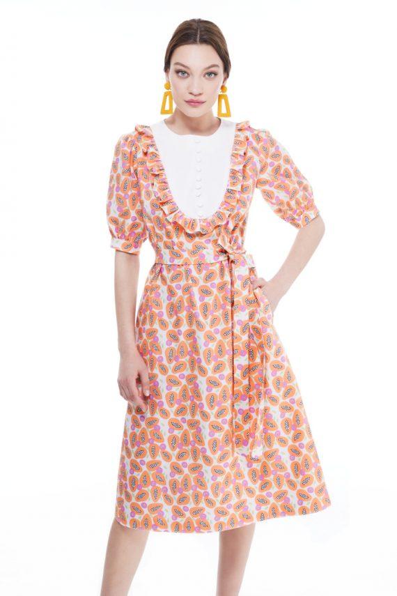 Mae Cotton Midi Dress