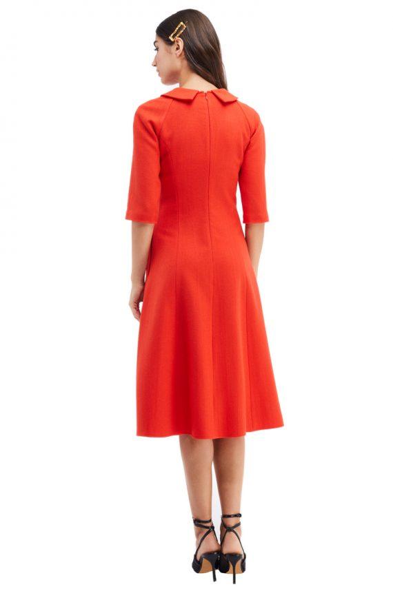Margot Button Embellished Collar Midi Dress Front