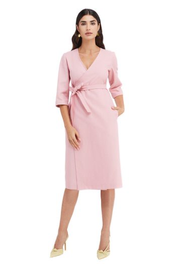 Mila Cotton Wrap Dress