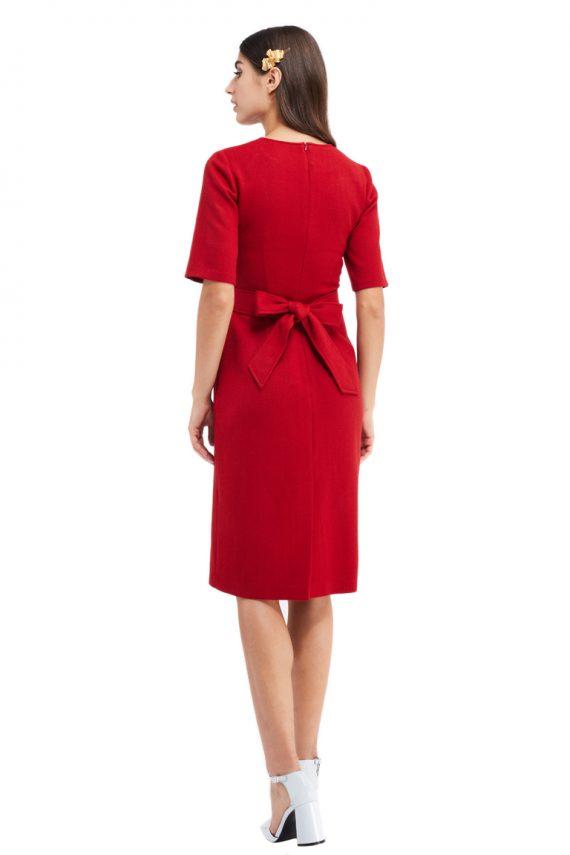 Noemie Bow Back Midi Dress