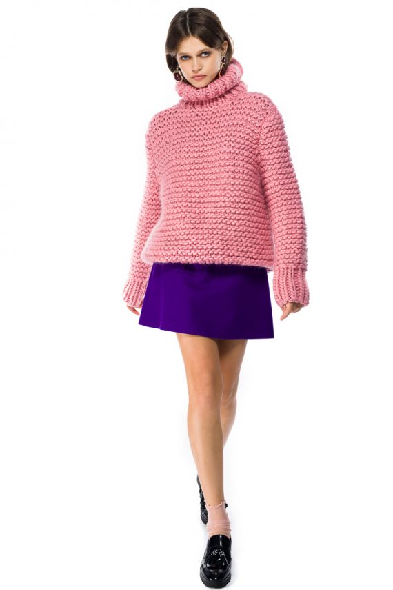 Oversized Turtleneck Wool Sweater