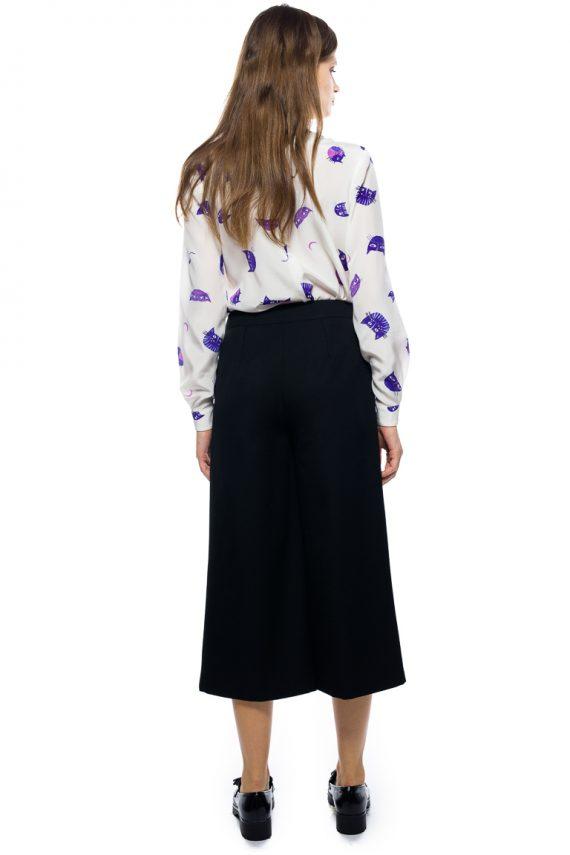 Pocket Detailed Wool Blend Pants - back