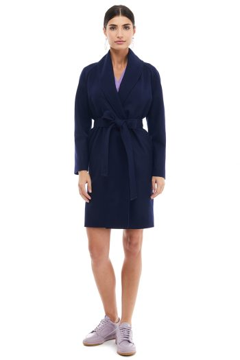 Raglan Sleeves Wool Coat