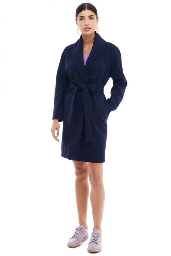 Raglan Sleeves Wool Coat