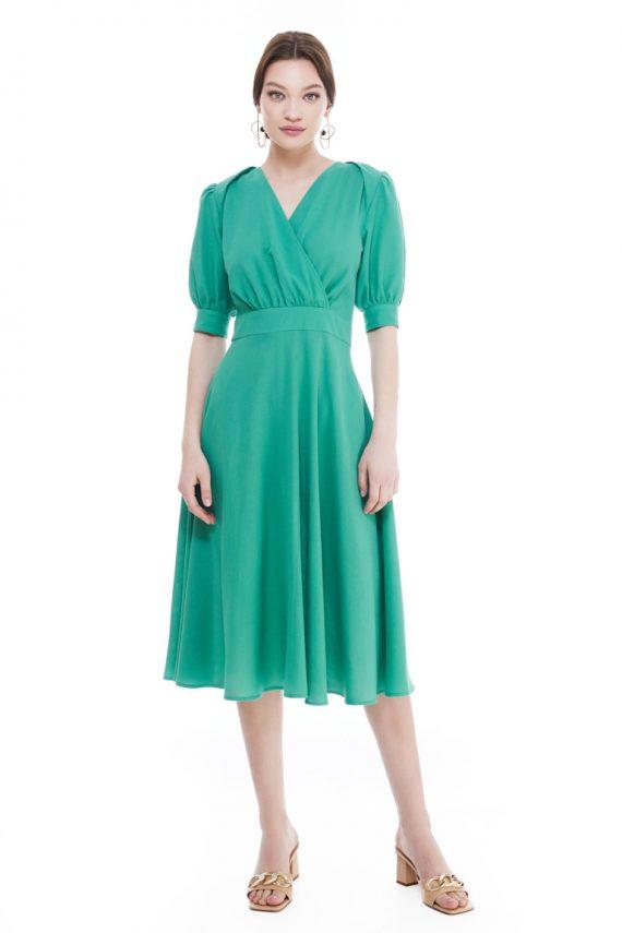 Rita Wrap-Effect Cotton Crepe Midi Dress