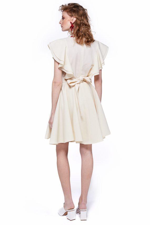 Rochie cu volane, din lana