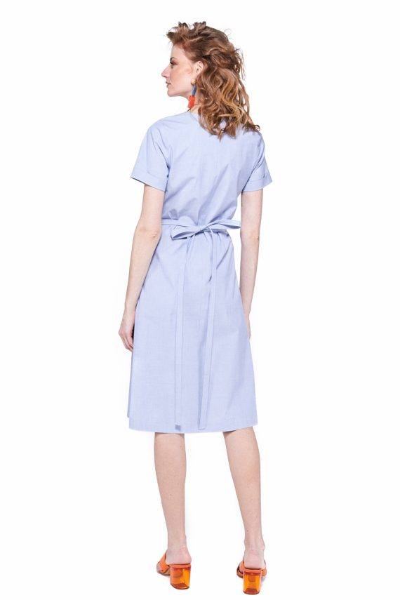 Cotton Wrap Dress