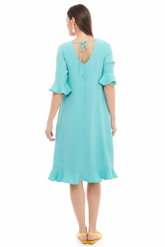Ruffled Hem Oversized Dress