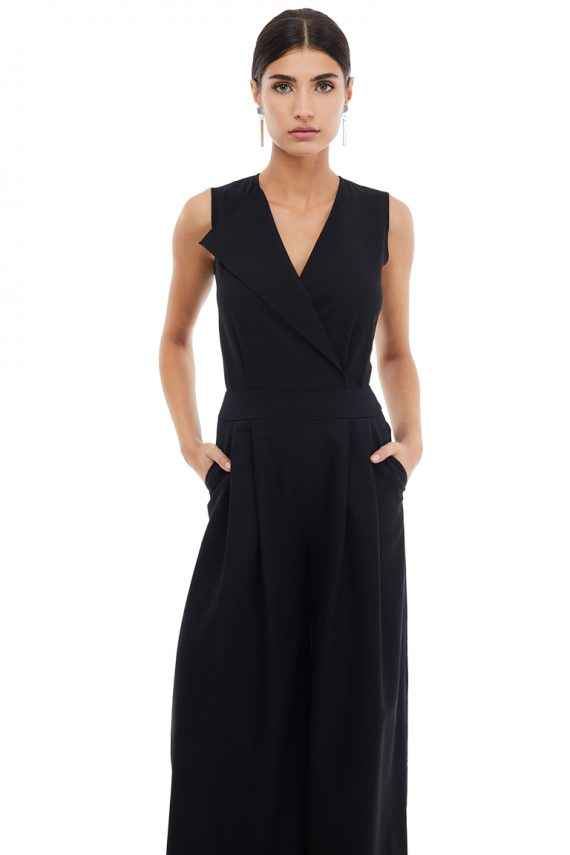 Sleeveless Wool Jumpsuit