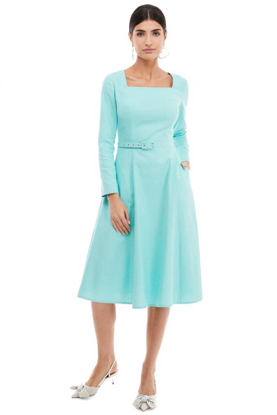 Square Neckline Cotton Dress