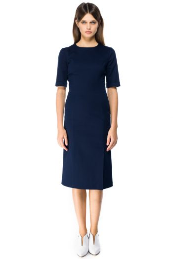 Stretch Cotton Midi Dress