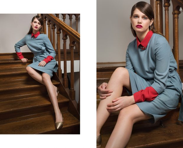 Oversized Wool Dress and Oversized Viscose Shirt