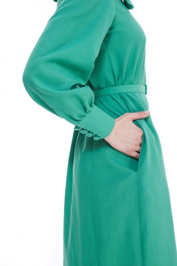 Vivien Frill Collar Cotton Crepe Dress