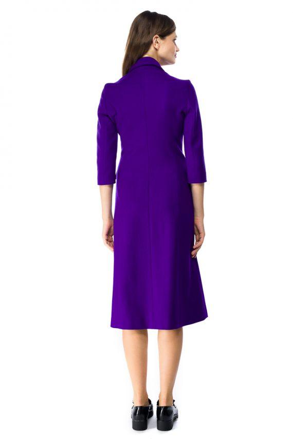 Wool Coat Dress - back