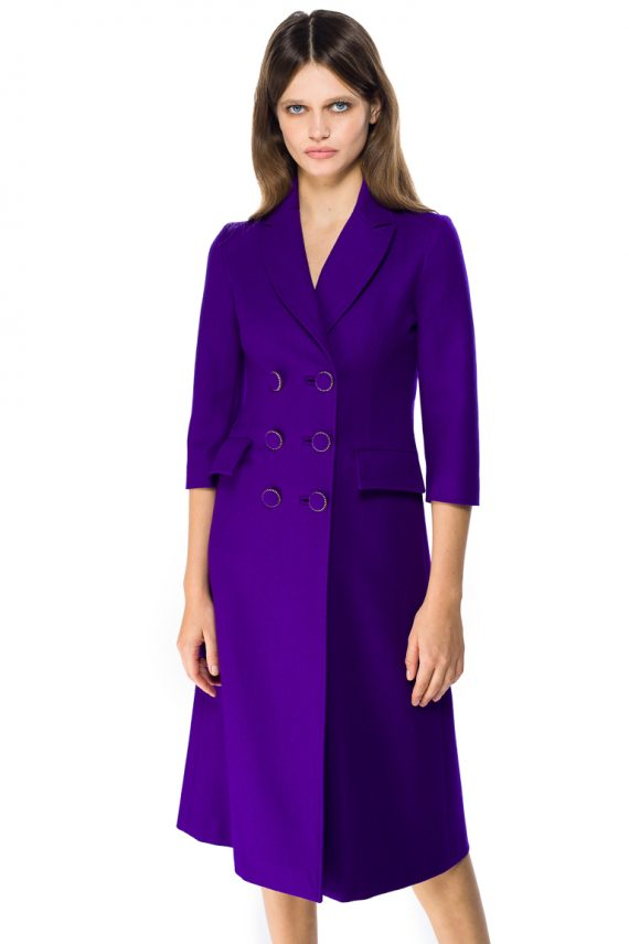 Wool Coat Dress - close up
