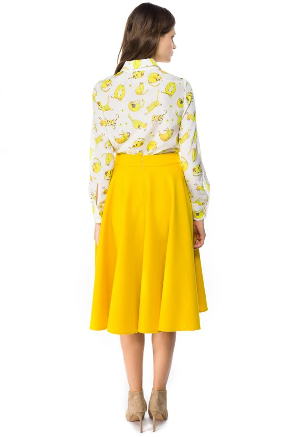 Wool Midi Skirt - back
