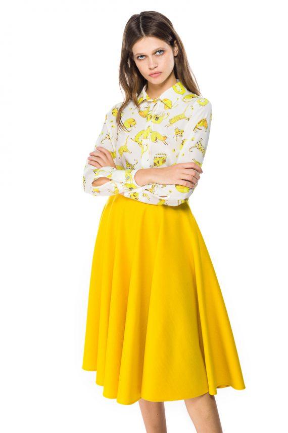 Wool Midi Skirt - close up