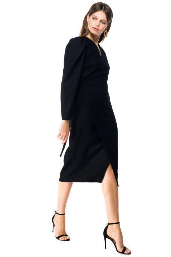 Wool Wrap Dress - side